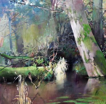 Oregon-Estuary-Rainforest-oil_canvas-36x36#BFFF
