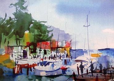 Jay-Mosby-dock-scene-painting