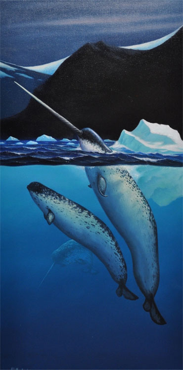 Don-McMichael_Narwhal-In-Ice