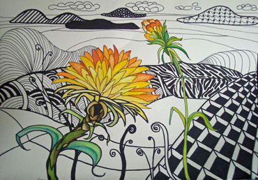 Zentangle-Doodle-with-color